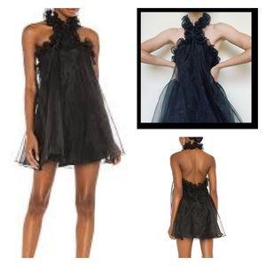 Lovers + Friends Capri Mini Dress Black Ruffles S